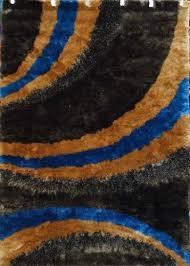 Afro Shag Rug Shag Rug Design Svd55 Brown And Blue 5 Feet X 7 Feet New Top