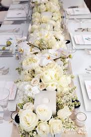 Wedding Reception Centerpieces Full Table White Flower Wedding Reception Centerpiece 2776310
