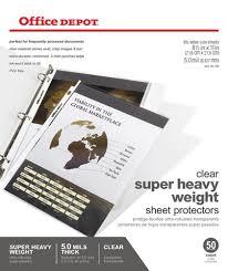 office depot brand super heavyweight sheet protectors pack of 50