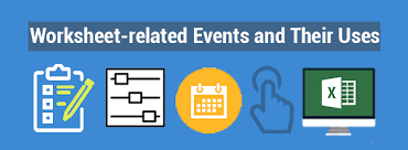 worksheet related events and their uses exceldemy com