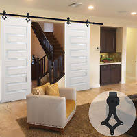 Sliding Door Wood Double Hardware 9ft 11ft bypass hardware sliding door track for 2 barn wood doors