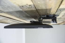 amazon com vivo manual flip down under cabinet mount folding tilt