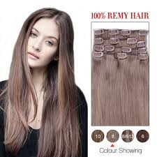 14 inch hair extensions 14 inch ash brown 8 7pcs set remy clip in