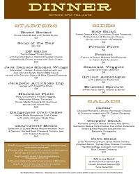 starters for thanksgiving dinner menus doug fir lounge
