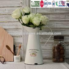 home decor rustic metal galvanized watering jug metal flower pot