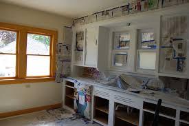 Painted Wood Kitchen Cabinets Wonderful On V Side Kitchen Before After Painted Kitchen Cabinets