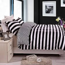 amazon com ntbay 3 pieces duvet cover set black and white stripe