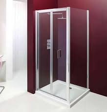 Shower Bifold Door Moods 900mm 6mm Safety Glass 1 Door Bifold Door Shower Enclosure