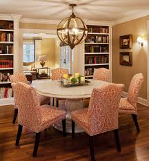 new york parsons bookcase dining room transitional with wood table
