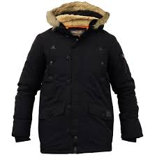boys school jacket kid parka coat brave soul padded sherpa hood