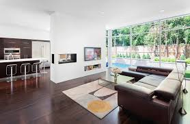 Living Room Seating Arrangement by Brown Leather Sectional Living Room Traditional With Stone Square