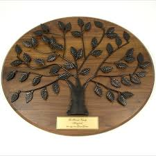50th anniversary plates you can engrave personalized family tree plaque with gold plate is a