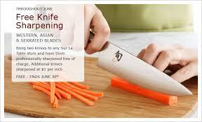 sur la table knife sharpening free free knife sharpening at sur la table in june