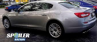white maserati rear 2013 2017 maserati quattroporte tesoro rear window spoiler