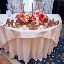 mr u0026 mrs signs for the wedding sweetheart table decor in a