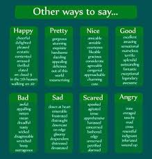 other ways to say happy pretty bad sad