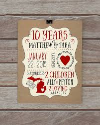 wedding quotes etsy 10 year anniversary etsy awesome 10 year wedding anniversary