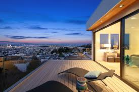 Wooden Outdoor Lounge Chairs Architecture Outdoor Home With Great Views In San Fransico