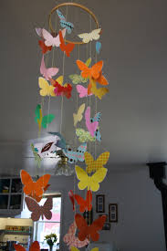 twig and toadstool butterfly mobile