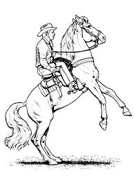 printable realistic horse coloring pages jumping cowboy kids free