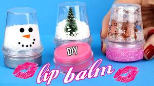 diy lip balm easy how to make miniature snow globe lip gloss