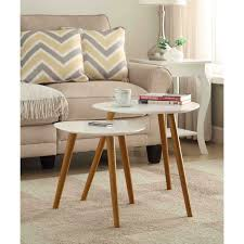 convenience concepts oslo white nesting end tables on sale