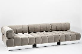 Light Grey Tufted Sofa by Todd Merrill Custom Originals Classic Tufted Sectional Seating