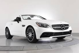 white mercedes convertible 2017 mercedes slc amg slc 43 convertible in chicago