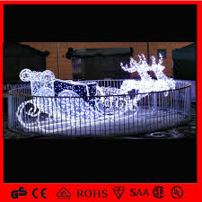 china led outdoor decoration reindeer sleigh light china sleigh