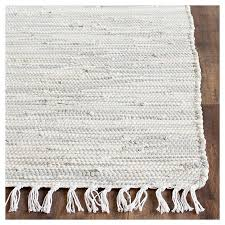 Flat Weave Cotton Area Rugs Safavieh Chasen Flatweave Area Rug Silver 4 X 6 Target