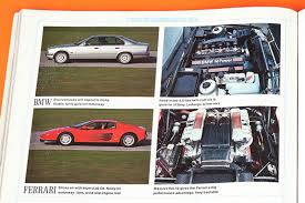 bmw e34 m5 vs ferrari testarossa car archive 1990 by car magazine