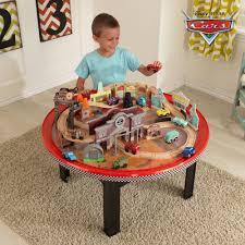 thomas the train activity table and chairs kidkraft disney cars cadillac range 61 piece racetrack set