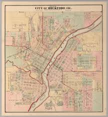 Illinois Map Of Cities by City Of Rockford Illinois David Rumsey Historical Map Collection