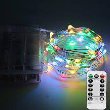 remote control battery lights 5m 10m rgb led christmas string light with remote controller battery
