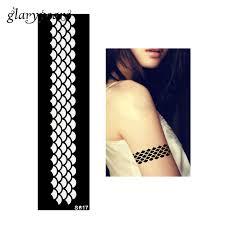 1 piece henna tattoo stencil bracelet strip fish scale pattern