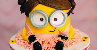 kara u0027s party ideas minion cake from a girly minion birthday party