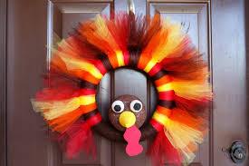Thanksgiving Wreath Craft Turkey Tulle Wreath Best Thanksgiving Wreath For Your Door