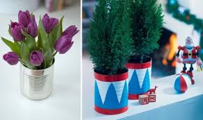 Creative Flower Vases 20 Tin Can Craft Ideas Flower Vases And Plant Pots
