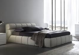 elegant white leather modern king size bedroom sets with dark gray