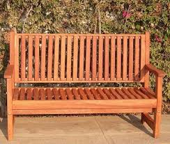 No Cushion Outdoor Furniture - wood bench with wave design seat slats forever redwood