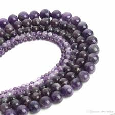 necklace stone beads images 4 6 8 10 12mm amethyst bead natural stone beads round purple stone jpg
