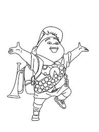 happy russell disney up coloring page netart