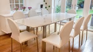 High Gloss Extending Dining Table White High Gloss Extending Dining Set Grey Or White Back
