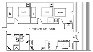 52 3bedroom cabin plans one story three bedroom house plans one 3