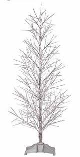 Pre Lit Christmas Twig Tree 5 U0027 Pre Lit Silver Fiber Optic Christmas Twig Tree Multi