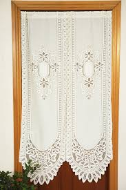 Lace Cafe Curtains Kitchen by Polyester Lace Curtains Promotion Shop For Promotional Polyester