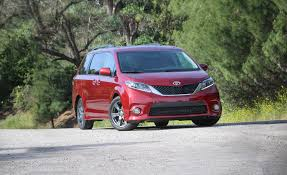 toyota sienna 2017 toyota sienna fwd test review car and driver