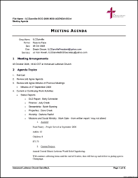 example of agenda for a meeting proposal letter for sponsorship