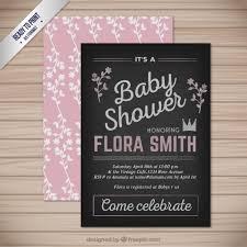 baby shower chalkboard blackboard baby shower card vector free