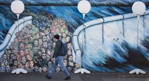 glowing balloons backdrop commemorations of berlin wall s fall